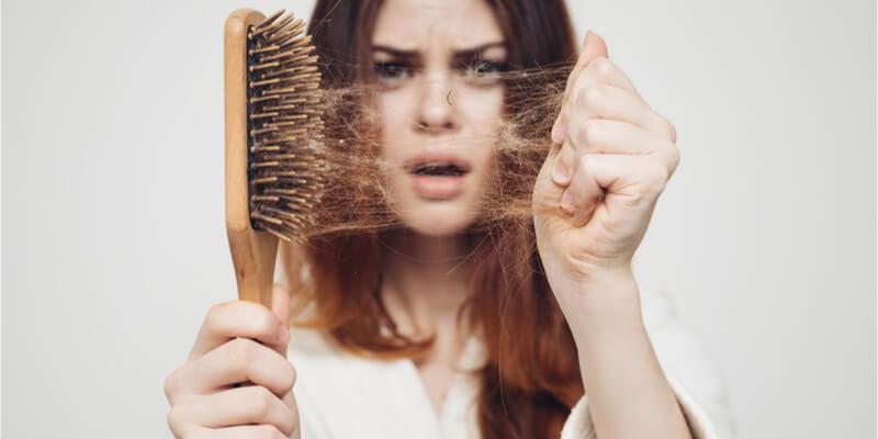 hair on brush