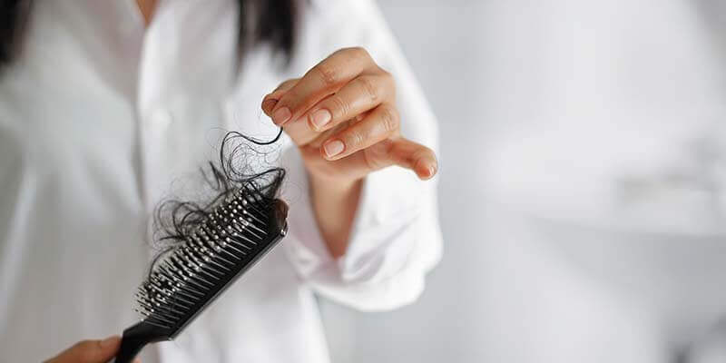 hair loss on brush