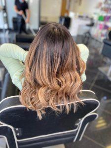 brown hair back