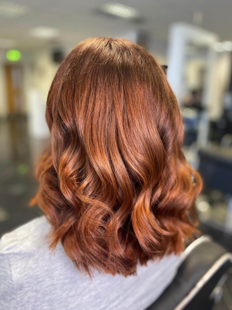 brown hair glossy