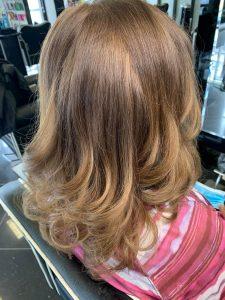 brown hair matte