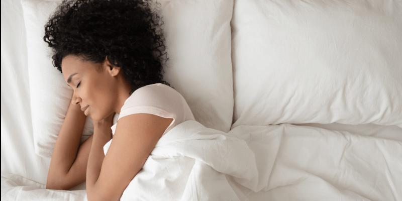sleeping on silk pillow